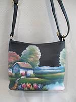 Женская сумочка сумка хорошего качества на  плечо со стильным принтом по низкой цене