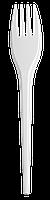 Вилка одноразовая, 17 см, белая, 2,1 г, 100шт 1080201