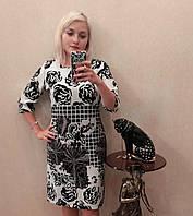 Selta платье 611 осень батал полубатал размер 50 размер 52 размер 54 размер 56 розы