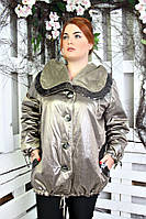 Куртка женская большого размера Ингрид (3 цвета), демісезонна куртка жіноча великого розміру, фото 1