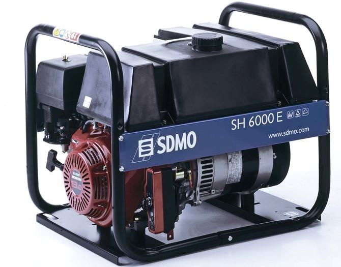 Генератор бензиновый SDMO SH 6000ES (6кВт)