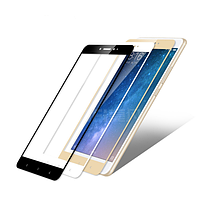 Защитное стекло для Xiaomi Mi Max 2 черное белое золотистое