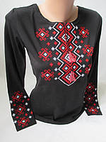 Трикотажные женские вышиванки с длинным рукавом.