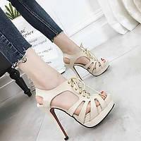 Для женщин Обувь на каблуках Обувь с подсветкой Модная обувь Кожа Полотно Полиуретан Весна Лето Для праздника Для вечеринки / ужинаДля 05725178
