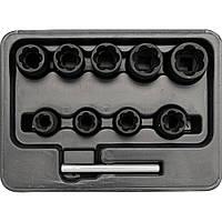 """Набор головок 3/8"""" для извлечения обломанных колёсных болтов YT-0603 MG"""