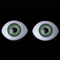 """Глазки для кукол овальные """"живые"""", 14х10 мм, зеленые"""