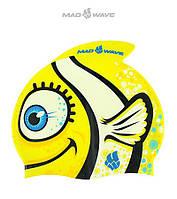 Детская (Junior) силиконовая шапочка для плавания Mad Wave Clown Fish JR