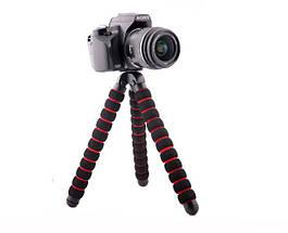 Гибкий штатив на 27 см., для телефона,фотоаппарата, экшен камеры, фото 3