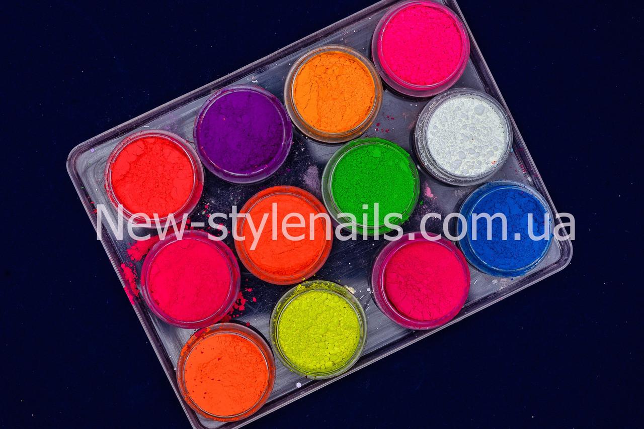 Набор насыщенных цветных пигментов из 12 ярких цветов