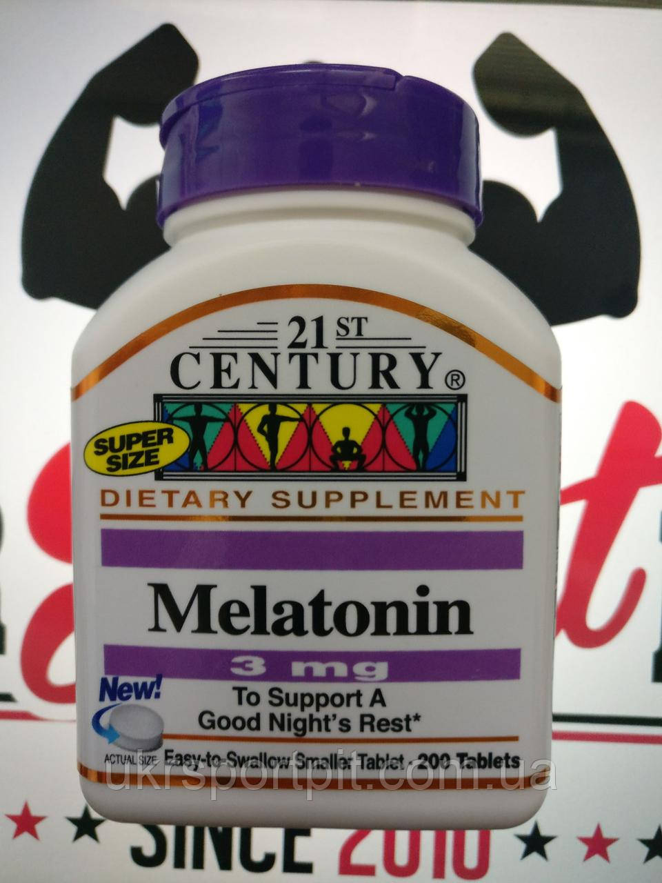 Мелатонин (Melatonin) 21st Century,3 мг, 200 таблеток