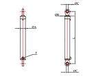 Гидроцилиндр одноштоковый 970 мм, фото 2