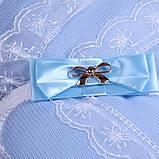"""Зимний конверт-одеяло на выписку """"Шарлотта"""" голубой, фото 3"""