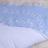 """Зимний конверт-одеяло на выписку """"Шарлотта"""" голубой, фото 4"""