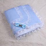 """Зимний конверт-одеяло на выписку """"Шарлотта"""" голубой, фото 2"""