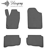 Skoda Fabia I 2000-2007 Комплект из 4-х ковриков Черный в салон. Доставка по всей Украине. Оплата при получении