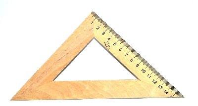 Треугольник, деревянный, 16 см. 45 град.