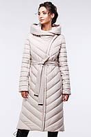 Стеганое длинное пальто приталенного кроя Фелиция, р 44,46,48,56,58,60