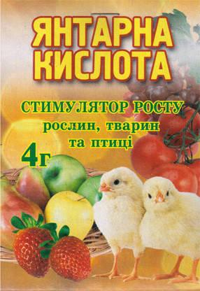 Добриво Янтарна кислота 4 г 0961.003, фото 2