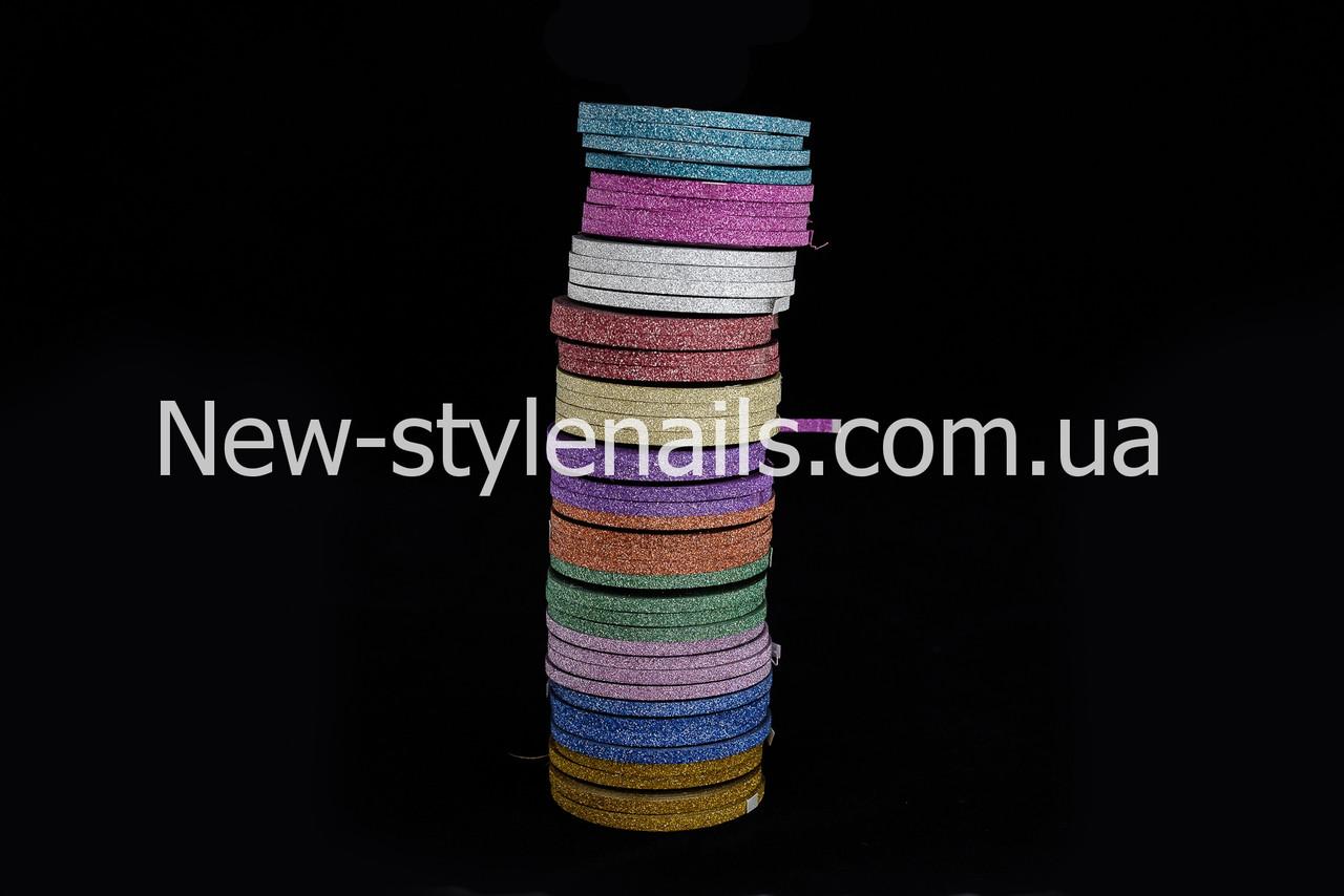 """Лента для дизайна ногтей """" Сахарная нить """", 0,3 мм, цвета в ассортименте"""