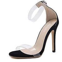 Сандалии летом прозрачный обуви резиновый платье шпильках пятки пряжки 05635420