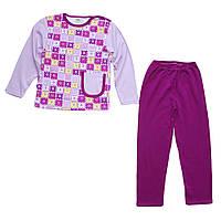 Пижама для девочки малыша ребенка фиолетовая арт. 37
