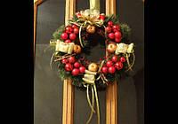 Новогодние, рождественские венки 30-35 см