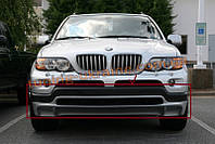 Накладка на передний бампер для BMW X5 E53 1999-2006