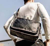 Мужская кожаная сумка. Модель 61287, фото 7
