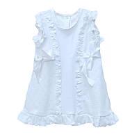 Крестильное платье для девочек белое крестины крещение арт.12052