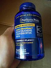 Восстановление суставов и связок, Puritan's Pride, Glucosamine Chondroitin MSM 240 caplets