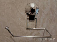 Держатель для туалетной бумаги на вакуумной присоске хром