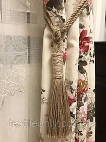 Кисти подхваты для штор цвет коричневый с белым 66 см ручная работа .