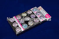 Набор паеток со стружкой для дизайна ногтей, цветные, 15 шт, фото 1