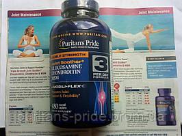 Puritan's Pride Double Strength Glucosamine Chondroitin для суставов хондропротектор глюкозамин хондроитин мсм