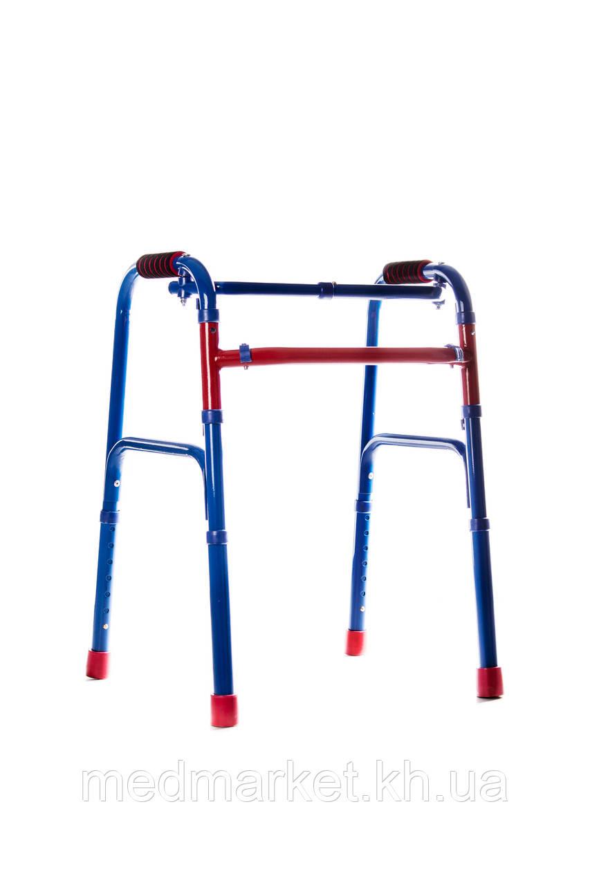 Ходунки-рамки MEDOK складные, регулируемые по высоте шагающие детские цветные MED-03-004
