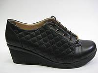 Женские кожаные туфли на танкетке ТМ ASL, фото 1