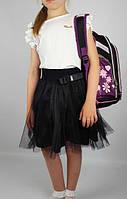 Детская юбка, фатин/трикотаж (122-140) — купить оптом по доступной цене со склада в одессе 7км