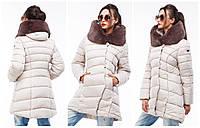 Зимняя куртка Карима с боковыми карманами на молнии и высоким воротом,42,44,46,48,50,52,54, фото 1