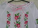 Вышиванка для девочки с коротким рукавом и шитьем , фото 3