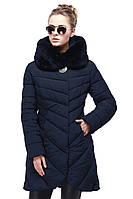 Зимняя куртка с ассиметричным низом с боковыми карманами на молнии и высоким воротом,42,44,46,48,50,52,54, фото 1