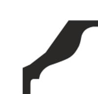 Плинтус потолочный Премьер Декор 43*43( PG 54)
