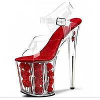 Для женщин Обувь на каблуках клуб Обувь Обувь с подсветкой ПВХ Весна Лето Осень Свадьба Для праздника Для вечеринки / ужинаКаблуки со 05172051