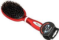 Массажная щетка с натуральной щетиной для волос TOP CHOICE
