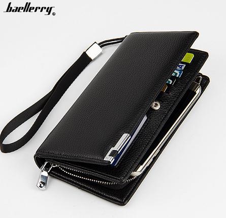 Мужской клатч, портмоне, кошелек Baellerry Classic Leather, фото 2