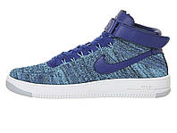 Кроссовки Nike Air Force 1 Ultra Flyknit Mid Blue