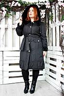 Плащ женский большого размера Вельбо (2 цвета), демисезонное пальто большого рзмера