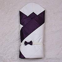 """Демисезонный Красивый конверт одеяло """"Beauty"""" (фиолетовый)"""