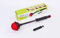 Эспандер силовой для пресса и рук Abdomen Trainer 5060: металл + пластик, длина 70см