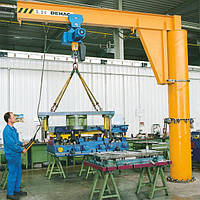 Кран консольный стационарный электрический с механическим поворотом консоли