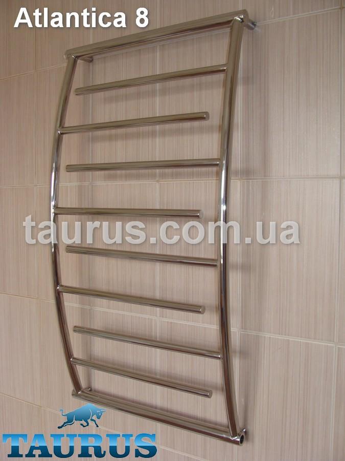Узкий полотенцесушитель Atlantica 8/400 из нержавеющей стали в ванную комнату